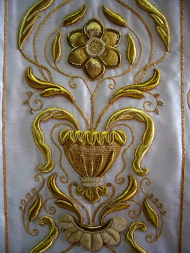 Details From My Younger Brother S Casulla Romana Flickr Photo Sharing Gold Work Embroidery Embroidery Art Embroidery Techniques