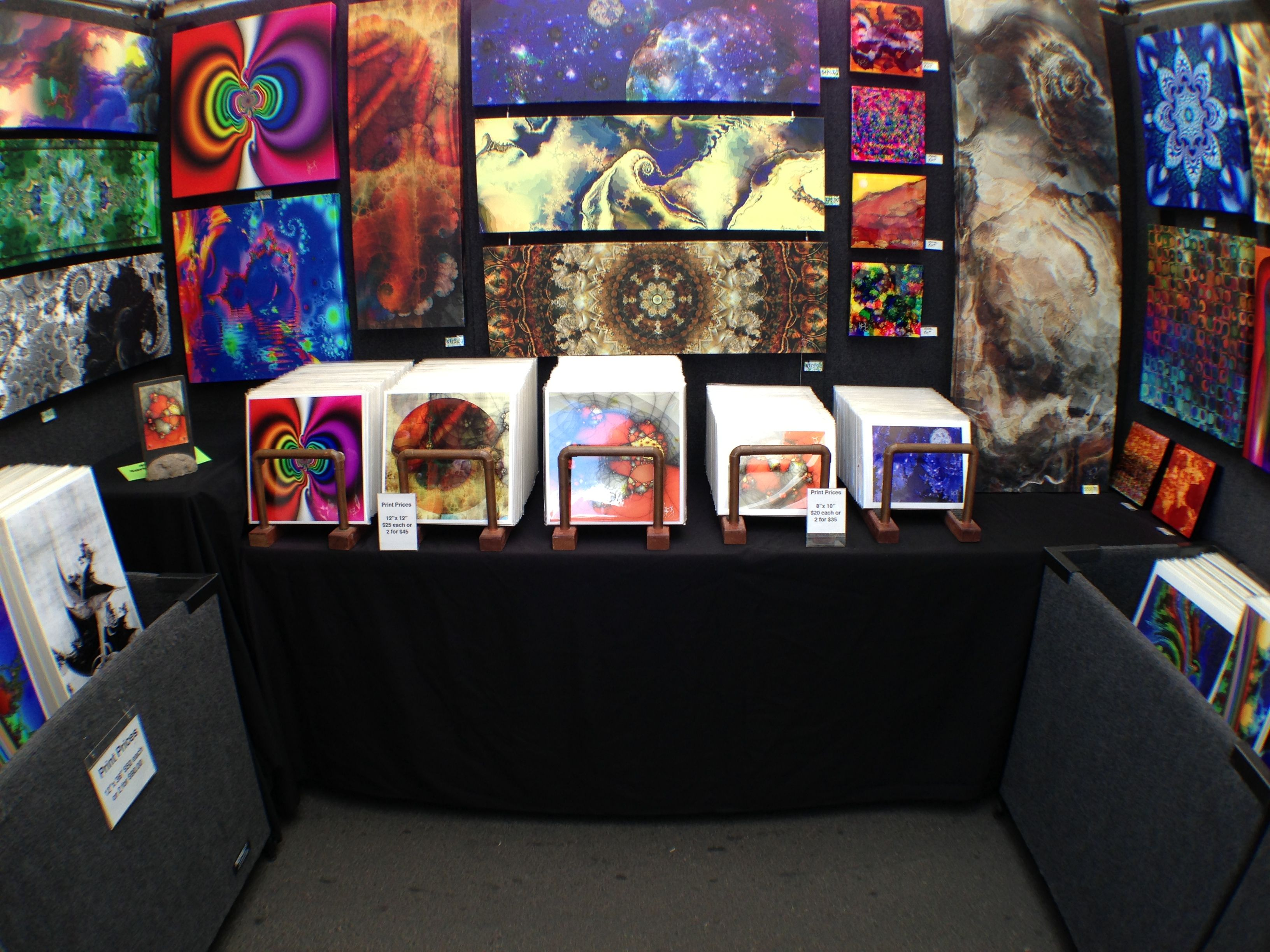 My latest booth set up shot last weekend at the 4th Ave Street Fair