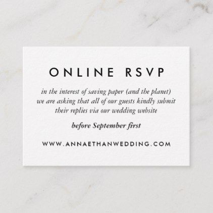 Modern Gold Rings Wedding Online Rsvp Card Zazzle Com In 2020