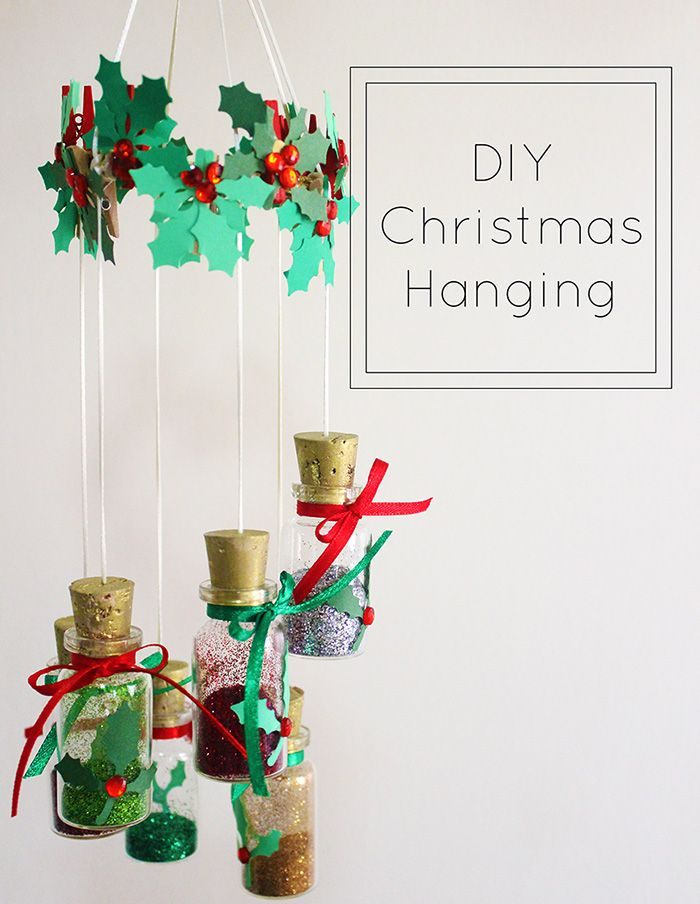 handmade christmas decorations for home diy christmas hanging decoration the_craftables - Christmas Hanging Decorations