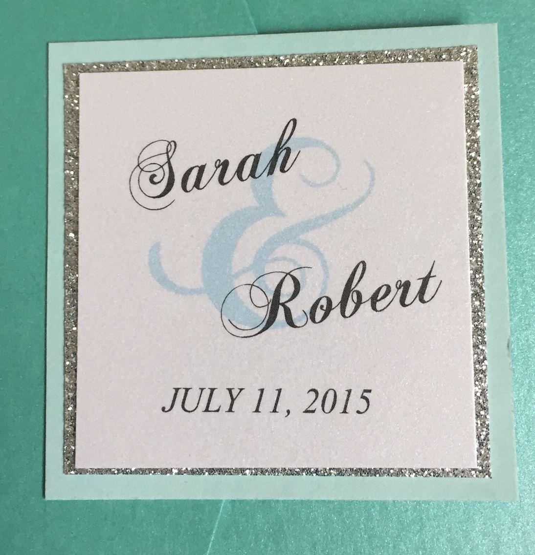 Custom seal for wedding invitation wedding invitations