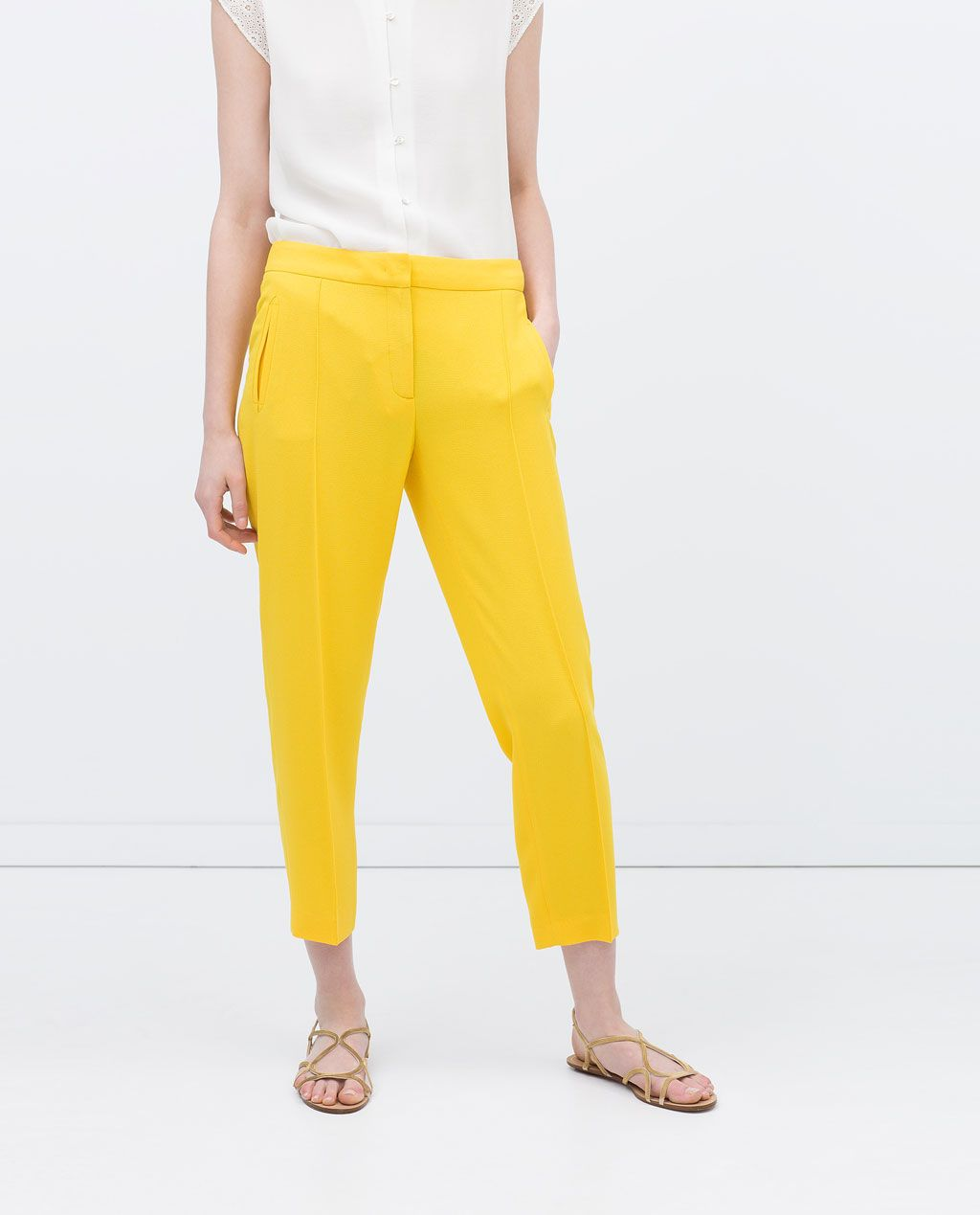 348f2fcc Image 2 of TROUSERS WITH ELASTIC WAIST from Zara | I want this ...