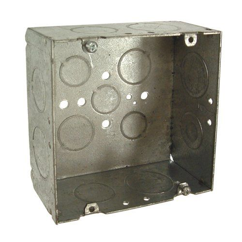 HubbellRaco 8265 218Inch Deep 34Inch and 1Inch Side Knockouts Welded 41116Inch Square Box >>> Click image to review more details.Note:It is affiliate link to Amazon.