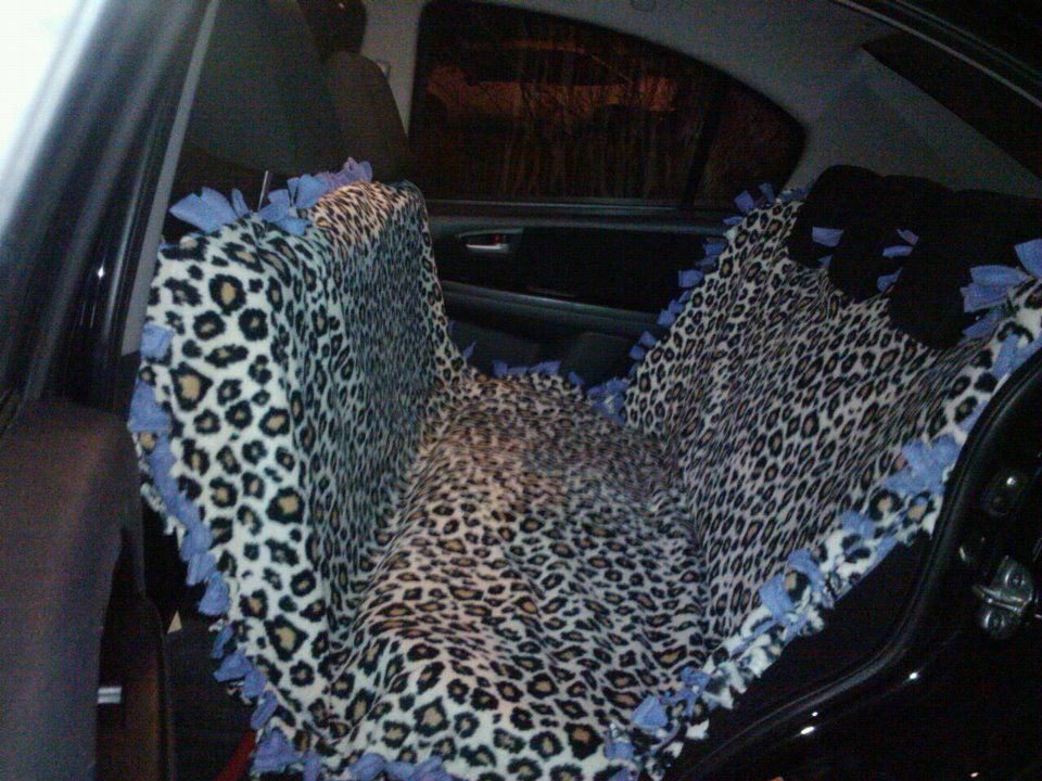 Diy Dog Car Seat Cover No Sew Made From A Fleece Tie Blanket Just