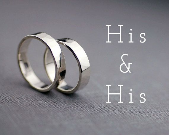 BLACK FRIDAY SALE His and His Wedding Ring Set by LilyEmmeJewelry