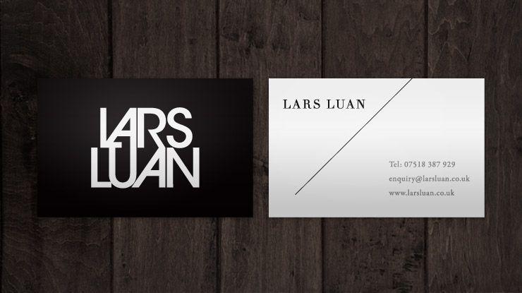 Business card design for make-up artist Lars Luan | Logos ...