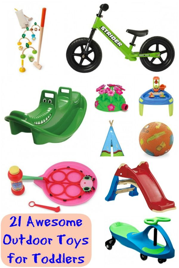 A list of fun outdoor toys for toddlers and younger kids to help you keep  your little ones active and engaged this summer. - 21 Awesome Outdoor Toys For Toddlers Children Pinterest Toys