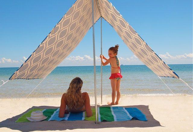 sonnensegel f r den strand garten pinterest strand. Black Bedroom Furniture Sets. Home Design Ideas