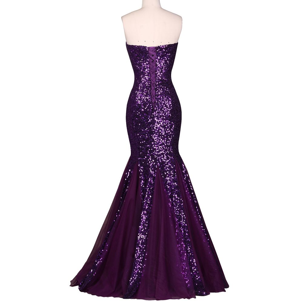 Glamour sweetheart sequin mermaid long prom dress liked on