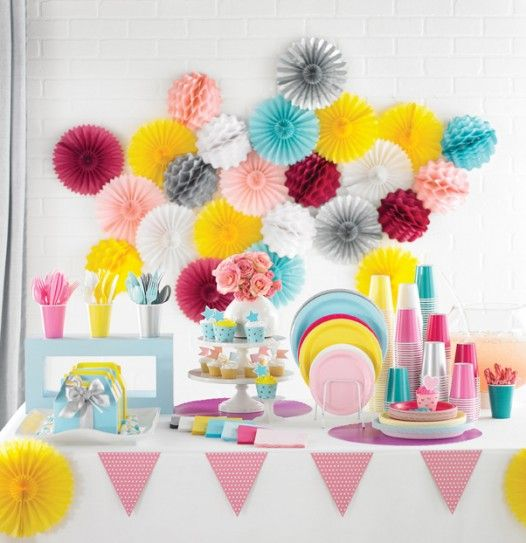 Paper Decorations To Make A Party Lovely And Lively | Pink ...