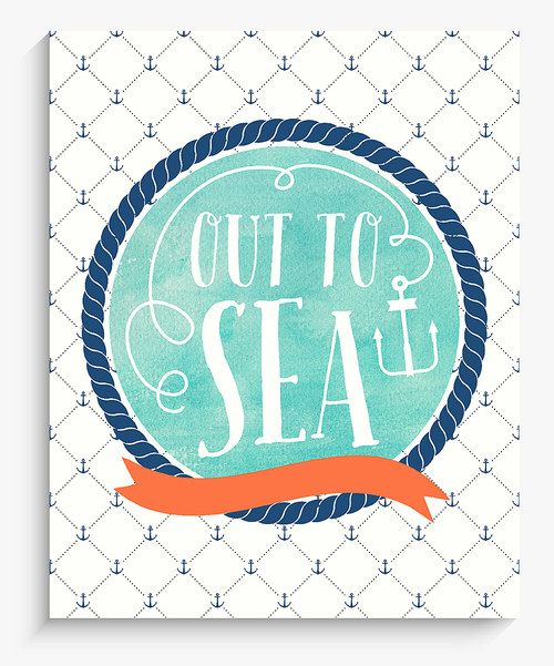 Look what I found on #zulily! Lucy Darling 'Out to Sea' Nautical Wall Art by Lucy Darling #zulilyfinds