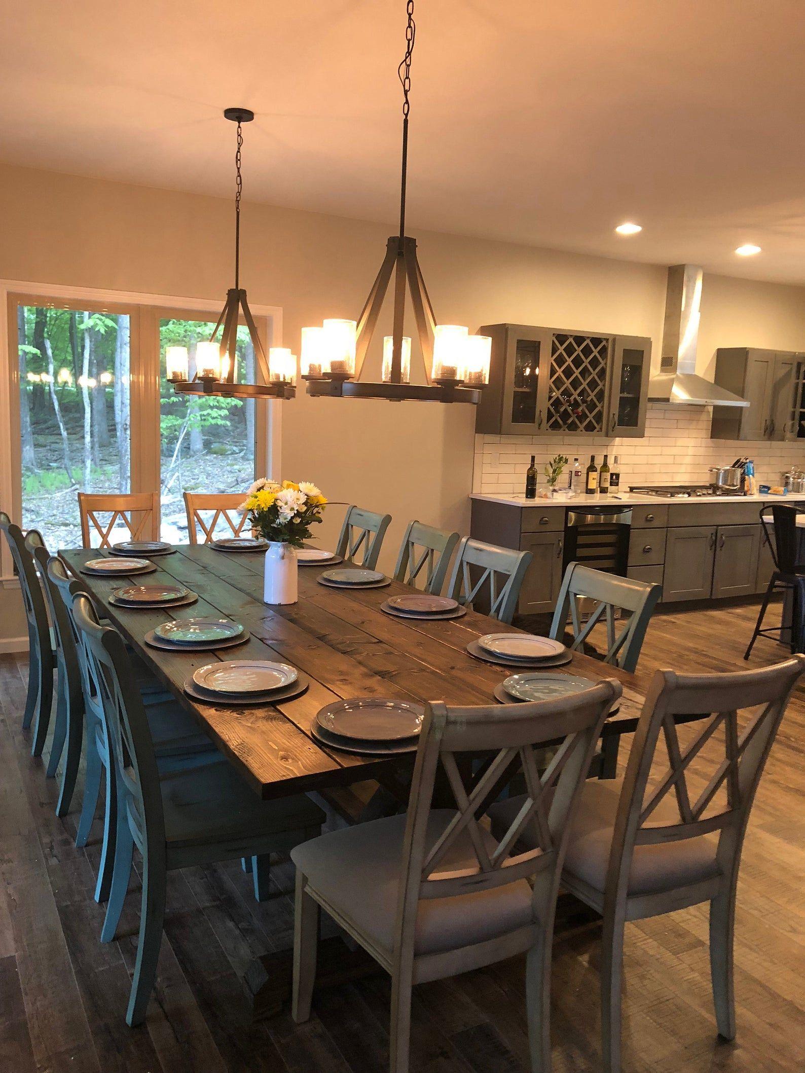 Large Farmhouse Table, Rustic Farm Table, Farmhouse Dining