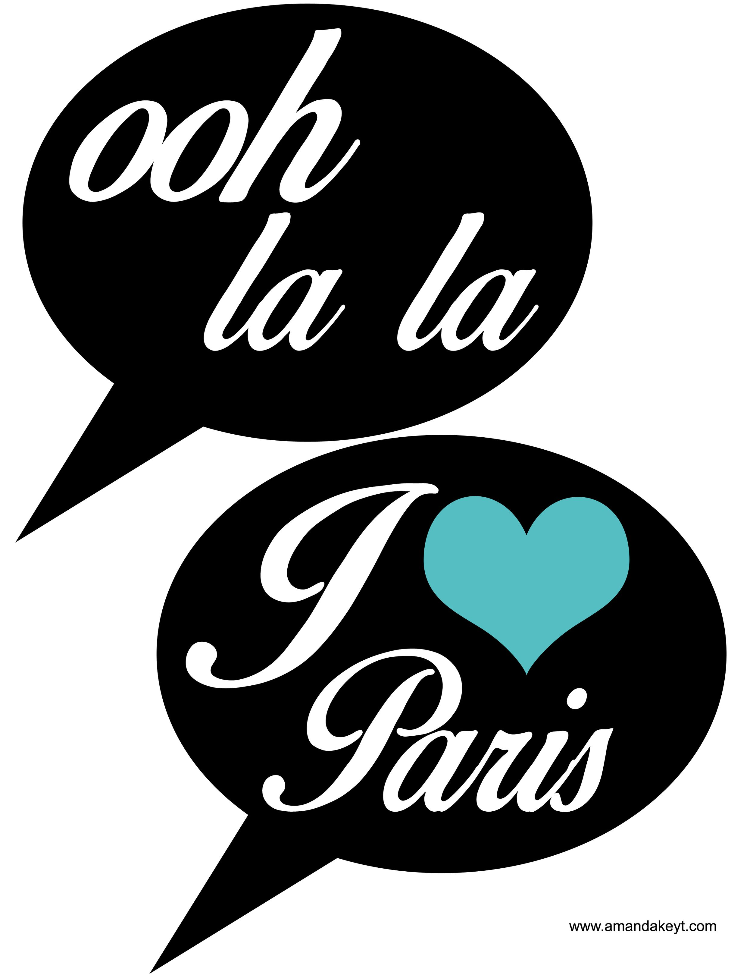Speech Bubbles from Paris Teal Printable Photo Booth Prop Set ...