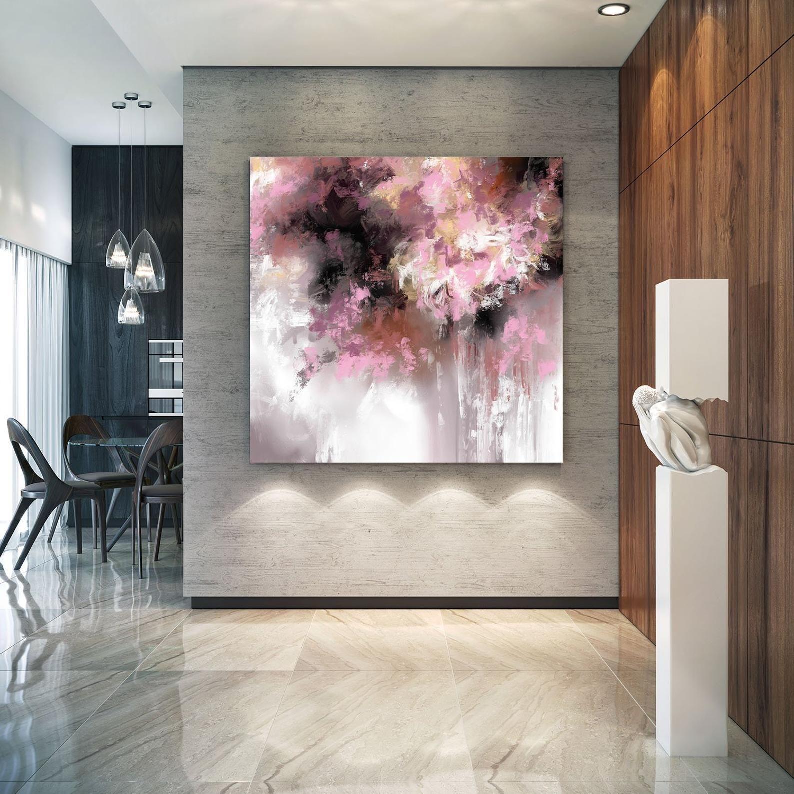 Extra Large Wall Art Palette Coltello Opera Originale Pittura