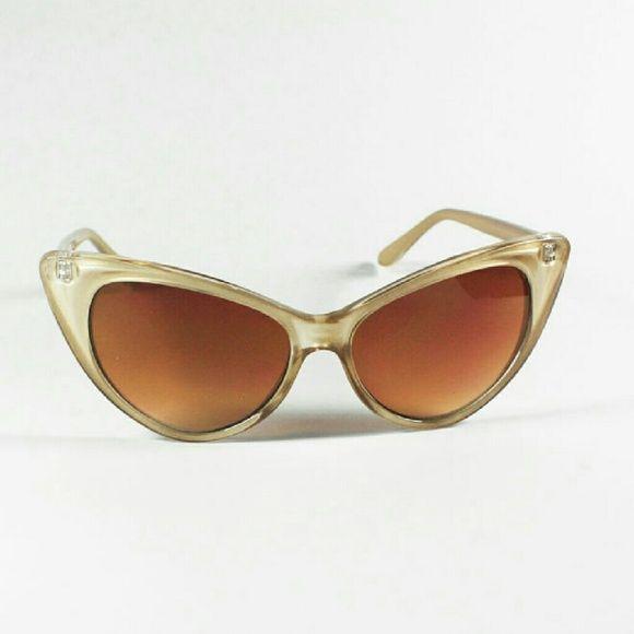 Caramel Cat S Eye Ring Diamontrigue Jewelry: Katelyn Cateye Sunglasses - Vanilla