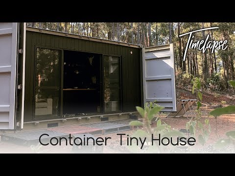 683 Container Transformation Tiny House Start To