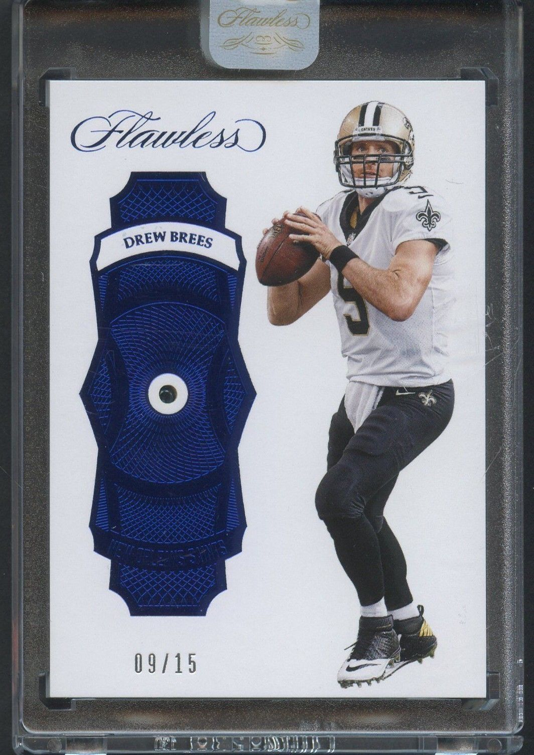 drew jersey pin saints flawless sapphire orleans new brees