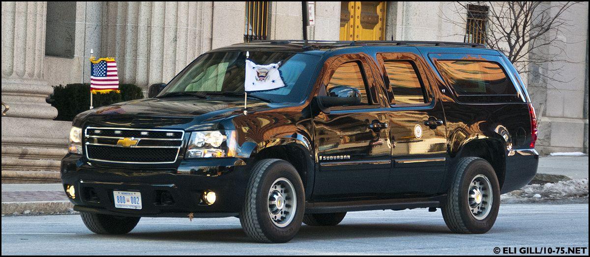 US Secret Service Armour Plate Suburban Chevy vehicles