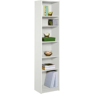 Maine Half Width Tall Extra Deep Bookcase White From Homebase Co Uk