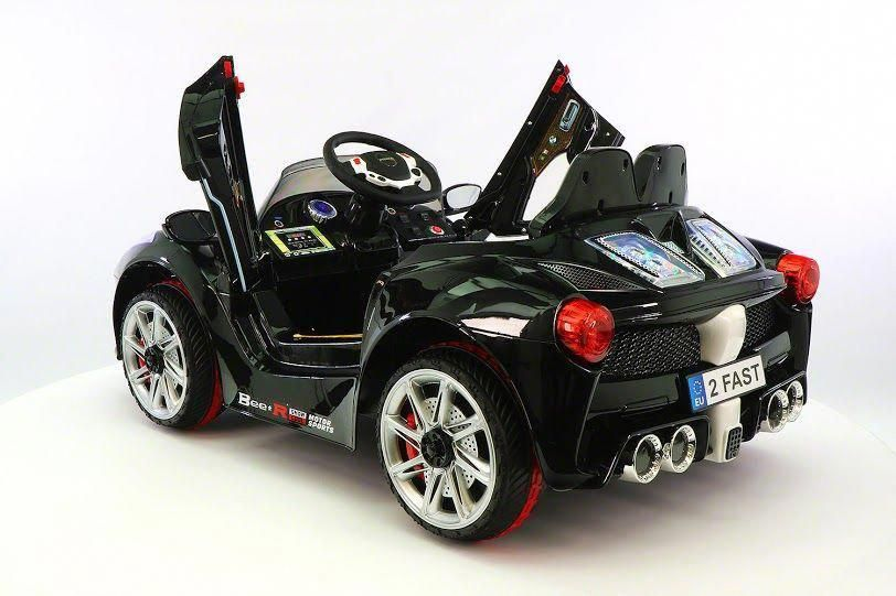 Black ferrari spider kids rideon car battery powered