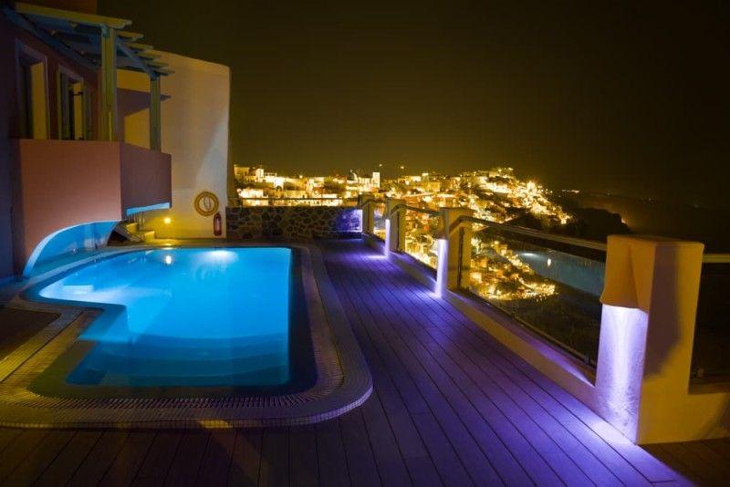 31 Visually Stunning Swimming Pool Lights At Night Swimming Pool Lights Greece Vacation Pool Lights