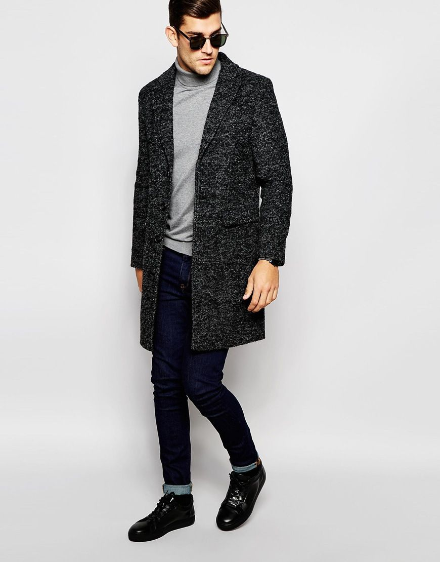Image 4 of Selected Homme Unstructured Wool Overcoat | AW2015 ...