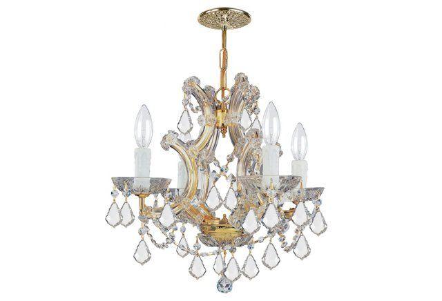 Maria theresa 4 light chandelier gold ceiling lights fans indoor and outdoor lighting lighting