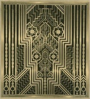 Metal grille from the lobby of ely kahn 39 s squibb building in manhattan n - What is art deco style ...