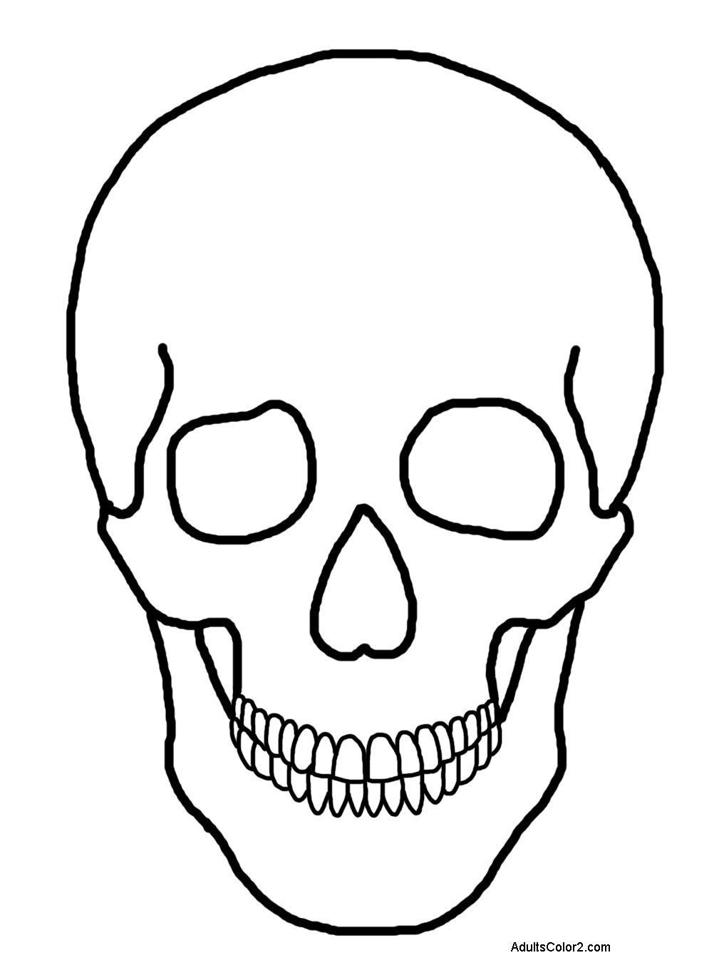 Skeleton Head Coloring Pages Merry Halloween Coloring Pages In 2020 Skull Coloring Pages Coloring Pages Animal Coloring Pages
