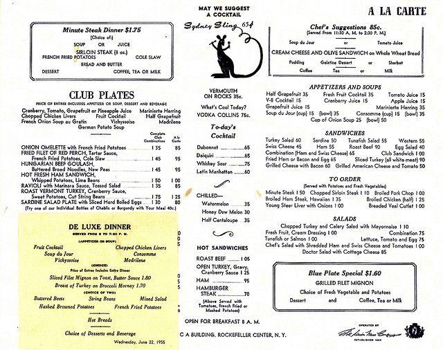Down Under Cafe (New York) - Menu Rockefeller center, Menu and - free printable restaurant menus