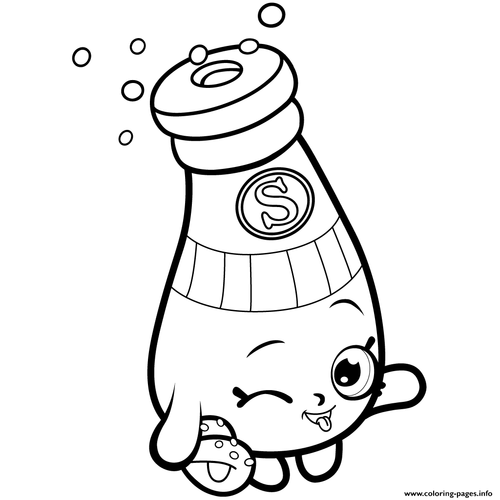 Print Pantry Sally Shakes Shopkins Season 1 Coloring Pages