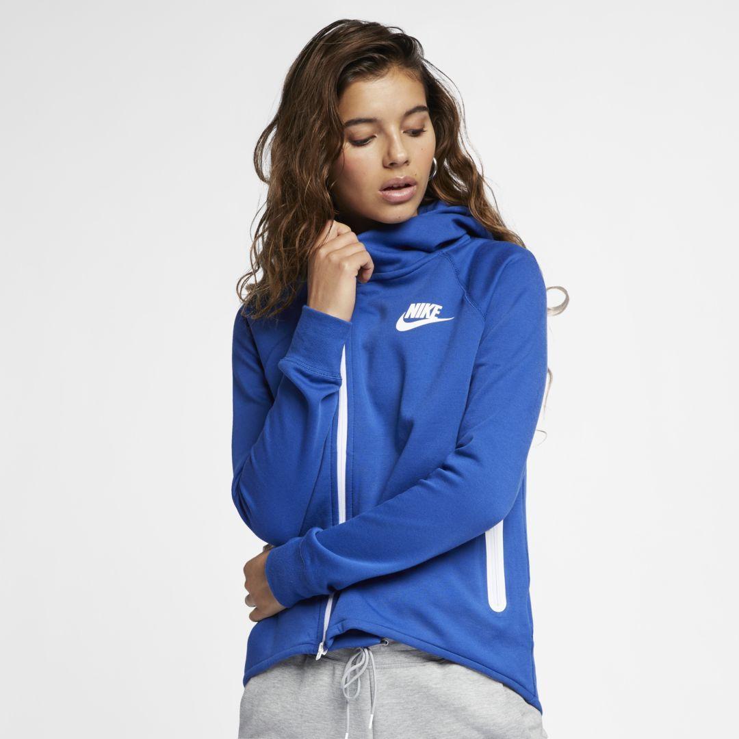newest eb99f 2f9d2 Nike Sportswear Tech Fleece Women s Full-Zip Cape Size 2XL (Indigo Force)