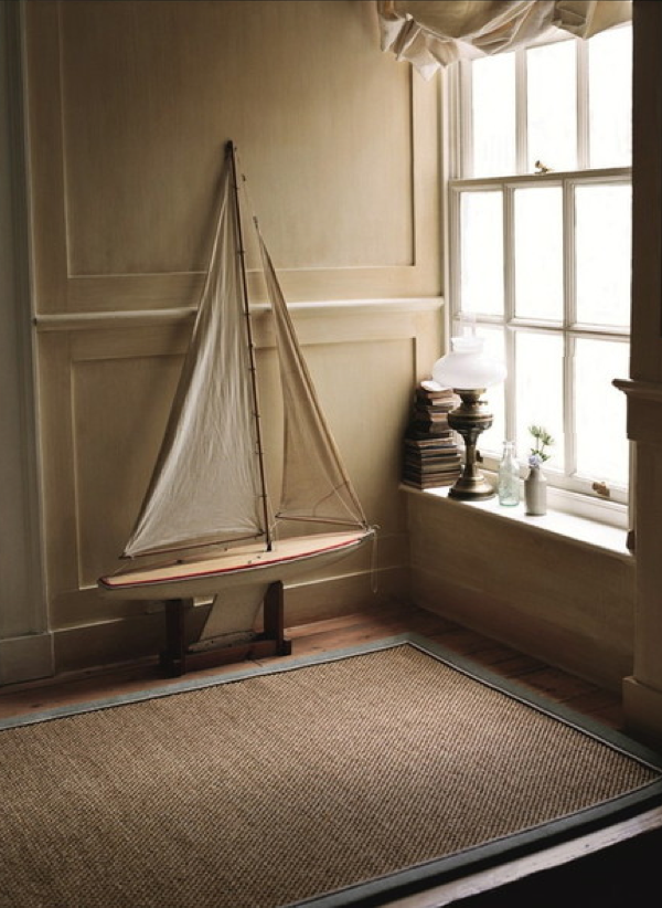 Rustic Hallway With Crucial Trading Rug