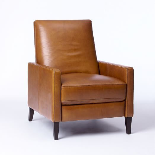 West Elm Sedgwick Leather Recliner Home Leather