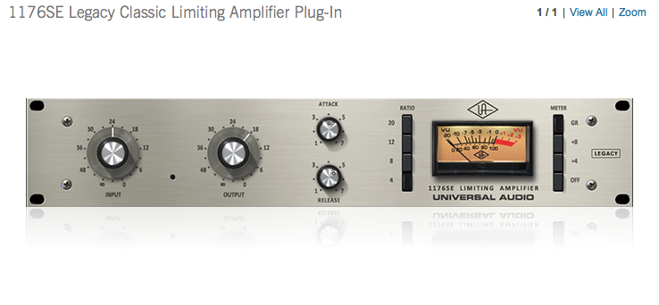 UAD 1176SE Legacy Classic Limiting Amplifier Plug-In | UAUDIO