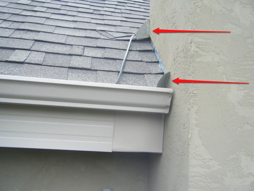 Red Arrows Show Diverter Or Kickout Flashings Space Saving Furniture Roof Design Home Repairs