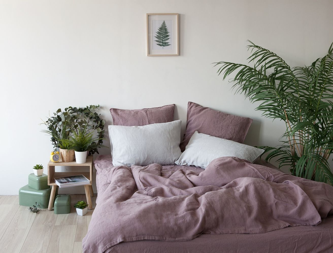 Linen Duvet Cover In Dusty Rose Pink Stonewashed Linen Bedding