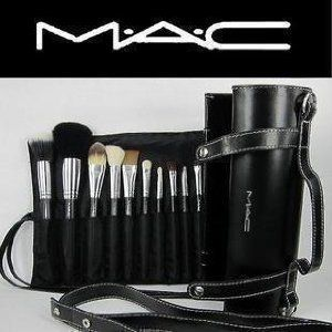 Com 16pcs Professional Cosmetic Mac Makeup Brushes Set With Pu Leather Er Beauty