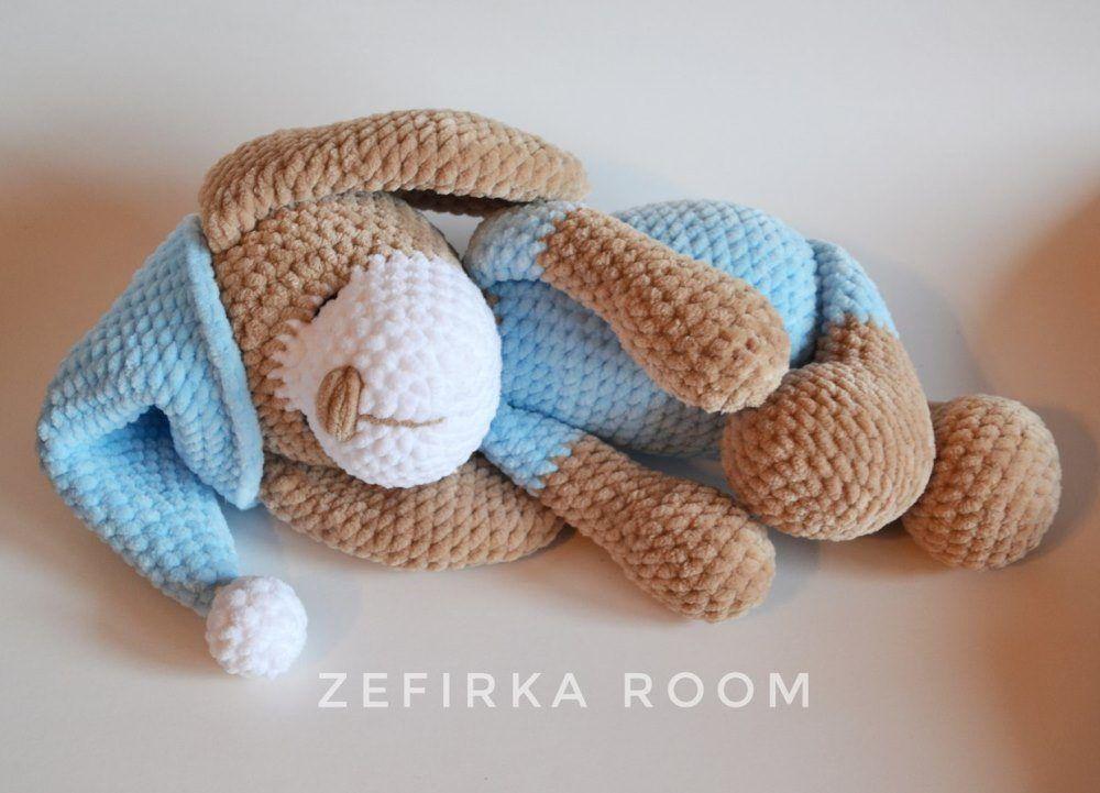 Sleeping Dog Amigurumi Free Crochet Pattern