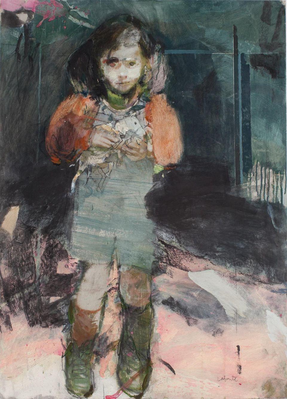 Marta Lafuente Cuenca – Laura, 105x75 cm, Técnica mixta sobre cartón