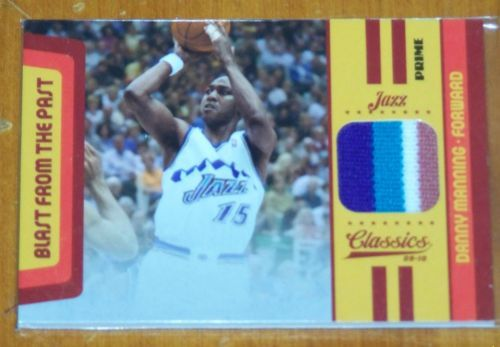 2009-10 CLASSICS BLAST FROM THE PAST DANNY MANNING JERSEY PRIME PATCH 8/30 in Sports Mem, Cards & Fan Shop, Cards, Basketball | eBay