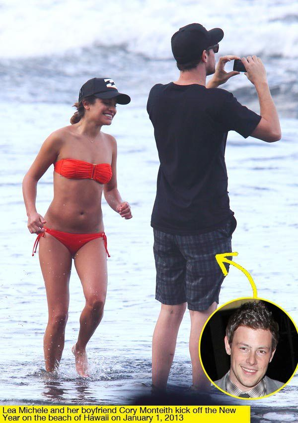 Lea Michele Cory Monteith Begin 2013 With Romantic Hawaii