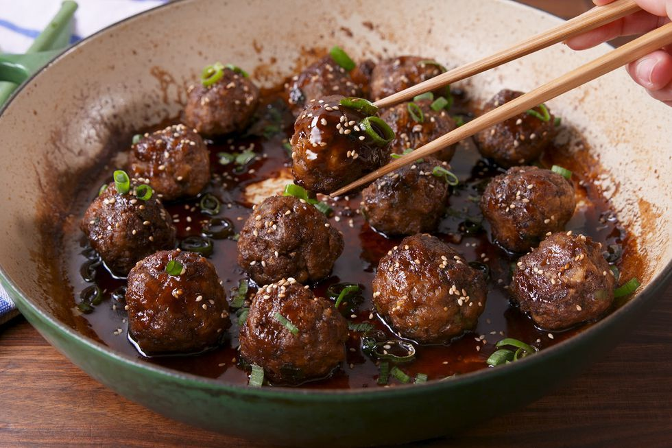 General Tso Meatballs Recipe Food Recipes Beef Recipes