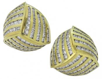Diamond 18k Gold Earrings