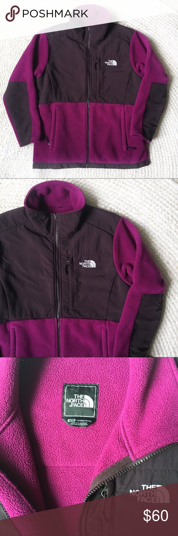 The north face denali fleece jacket berry euc berry flaws and