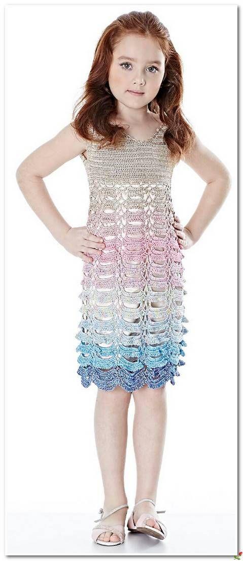 Pin de clara martinez en Vestido niñas crochet ll | Pinterest
