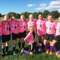 Soccer Girls 'Pink the Field' in October