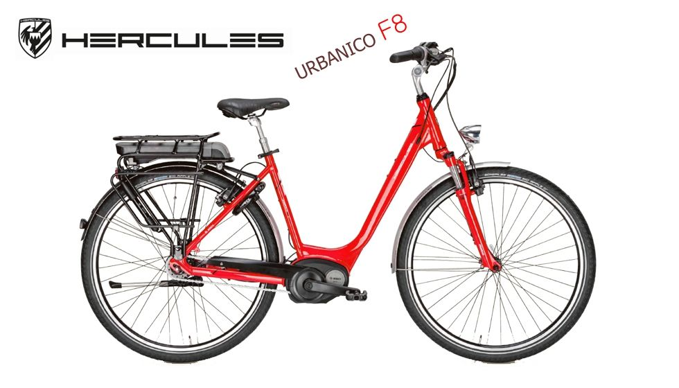 Hercules Urbanico F8 Red | Bosch Electric Bike | Justebikes.co.uk ...