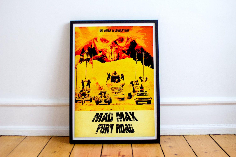 Mad Max Fury Road Poster - Movie Poster - Wall Art - Immortan Joe ...
