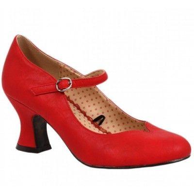 Lindsey Kitten Heel Red Mary Jane